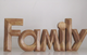 Wooden Family Sculpture. 61315 Natural Solid Wood
